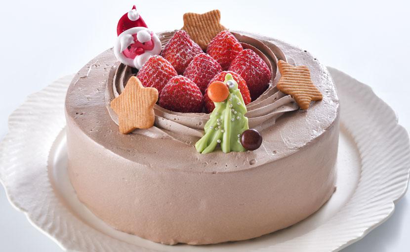 チョコレート生クリームデコレーション(クリスマスケーキ)